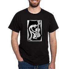 Green Upright Man T/Larger Image on Back T-Shirt