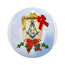 Unique Masonic christmas Ornament (Round)