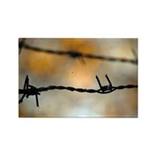 Barbed Wire Rectangle Magnet