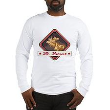 Mt. Rainier Pop-Moose Patch Long Sleeve T-Shirt