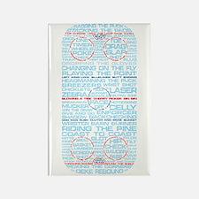 Hockey Rink Typography Design Rectangle Magnet