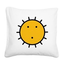 Kwakiutl Sun Square Canvas Pillow
