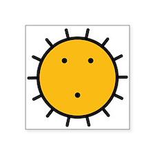 """Kwakiutl Sun Square Sticker 3"""" x 3"""""""