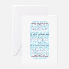 Hockey Rink Typography Design Greeting Card