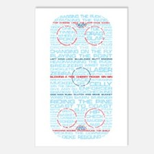 Hockey Rink Typography Design Postcards (Package o