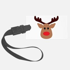 Christmas Red Nosed Reindeer Luggage Tag