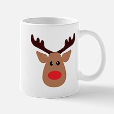 Christmas Red Nosed Reindeer Mug