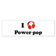 Power pop music Bumper Bumper Sticker