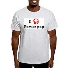 Power pop music Ash Grey T-Shirt