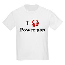 Power pop music Kids T-Shirt
