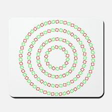 4 circles optical illusion Mousepad