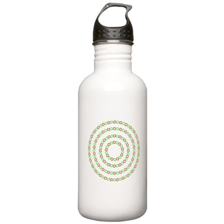 4 circles optical illusion Stainless Water Bottle