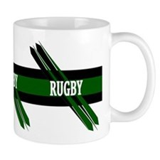 Rugby Points Black Green Mug