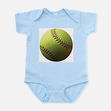 Yellow Softball Infant Bodysuit