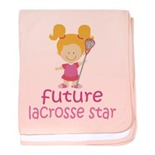 Future Lacrosse Star baby blanket
