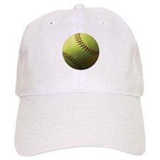 Yellow Softball Baseball Cap