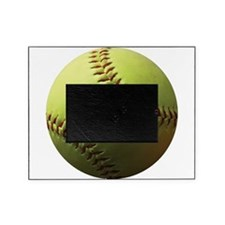 Yellow Softball Picture Frame