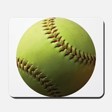 Yellow Softball Mousepad