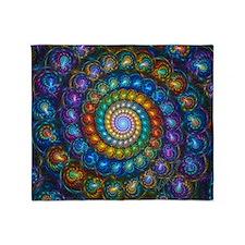 Fractal Spiral and Kaleidoscope Beads Blanket