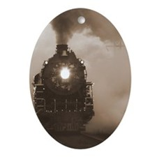 Christmas Train 0.71 Ornament (Oval)