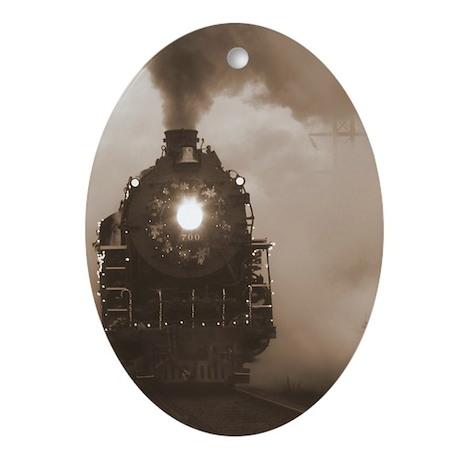 Christmas Train 0.71 Ornament (Oval)