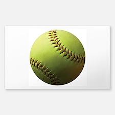 Yellow Softball Decal