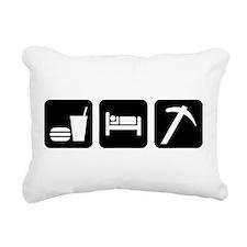 Eat Sleep Go Rockhounding Rectangular Canvas Pillo