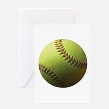 Yellow Softball Greeting Card
