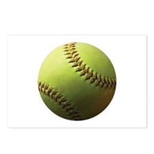Yellow Softball Postcards (Package of 8)