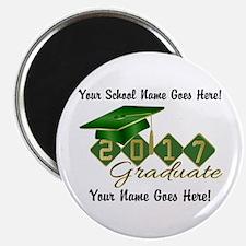Graduate 2017 Green Gold Magnets