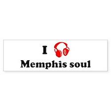 Memphis soul music Bumper Bumper Sticker