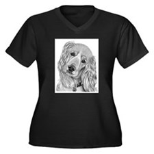Cocker Spaniel Women's Plus Size V-Neck Dark T-Shi