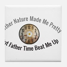 Father Time vs. Mother Nature Tile Coaster