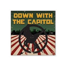 Down With The Capitol - Hunger Games Square Sticke