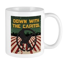 Down With The Capitol - Hunger Games Small Mugs