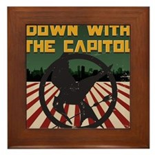 Down With The Capitol - Hunger Games Framed Tile