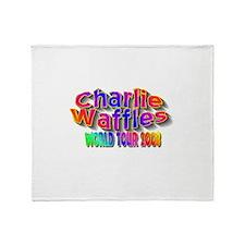 charlie waffles.jpg Throw Blanket