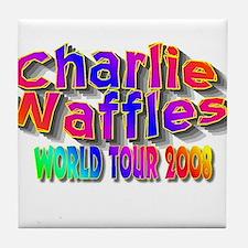 charlie waffles.jpg Tile Coaster