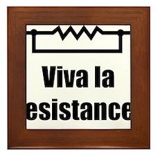 Viva la resistance Framed Tile