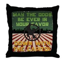 May The Odds Be Ever In Your Favor! Throw Pillow