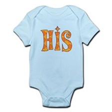 Funky Orange HIS Infant Bodysuit