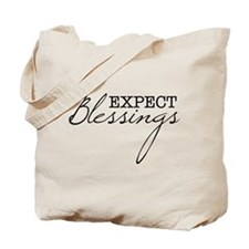 Expect Blessings Tote Bag