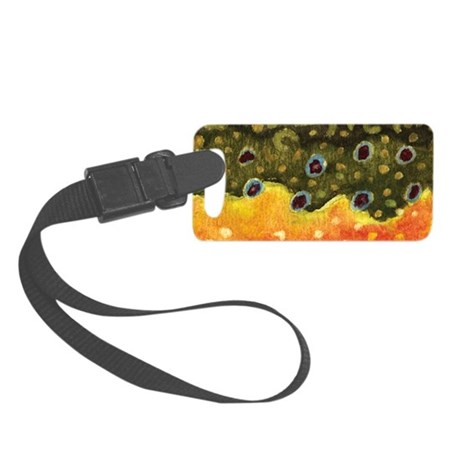Brook Trout Fly Fishing Small Luggage Tag