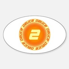 Deuce #2 Sticker (Oval)