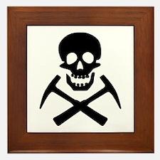 Rockhound Skull Cross Picks Framed Tile