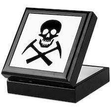 Rockhound Skull Cross Picks Keepsake Box