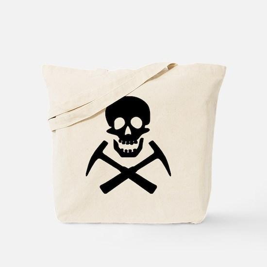 Rockhound Skull Cross Picks Tote Bag