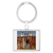 Cairn Terrier Squirrels Landscape Keychain