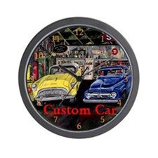 Custom Car Vintage Style by Mark Moore Wall Clock