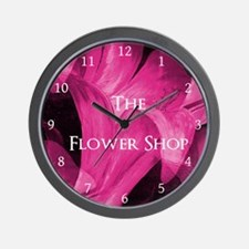 The Flower Shop by Mark Moore Wall Clock